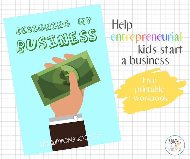 help kids start their own business - free printable workbook
