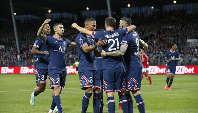 ملخص واهداف مباراة باريس سان جيرمان وبريست (4-2) الدوري الفرنسي