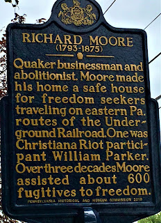Quaker businessman and abolitionist. Moore made his home a safe house for freedom seekers traveling on eastern Pa. routes of the Underground Railroad. One was Christiana Riot participant William Parker. Over three decades Moore assisted about 600 fugitives to freedom.