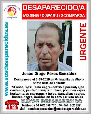 Jesús Diego Pérez González, hombre desaparecido en Abona de Granadilla, Tenerife