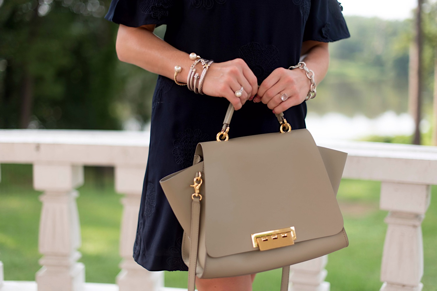 ZAC Zac Posen Eartha Satchel - Click through to see the full styling on Something Delightful Blog!