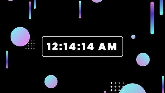 digital clock javascript