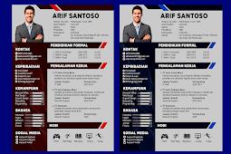 Contoh CV Lamaran Kerja Kreatif dan Baik - Design #39