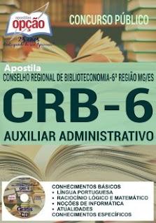 Apostila CRB-6 Região Auxiliar Administrativo
