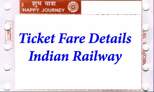 Train Ticket Fare Details by Indian Railway