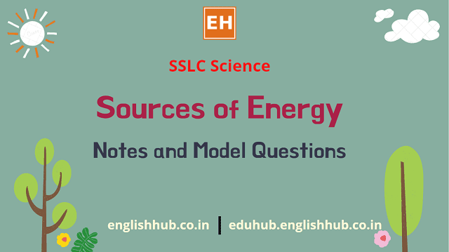 SSLC Science: Sources of Energy