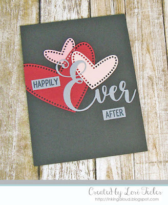 Happily Ever After card-designed by Lori Tecler/Inking Aloud-stamps and dies from Lil' Inker Designs