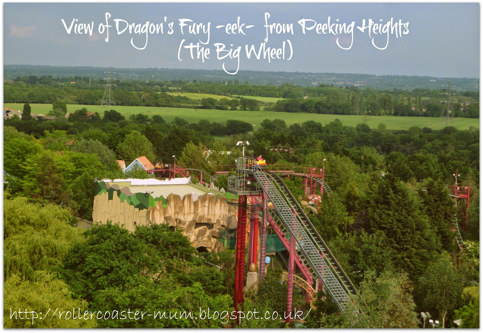 view from the Big Wheel, Chessington World of Adventures