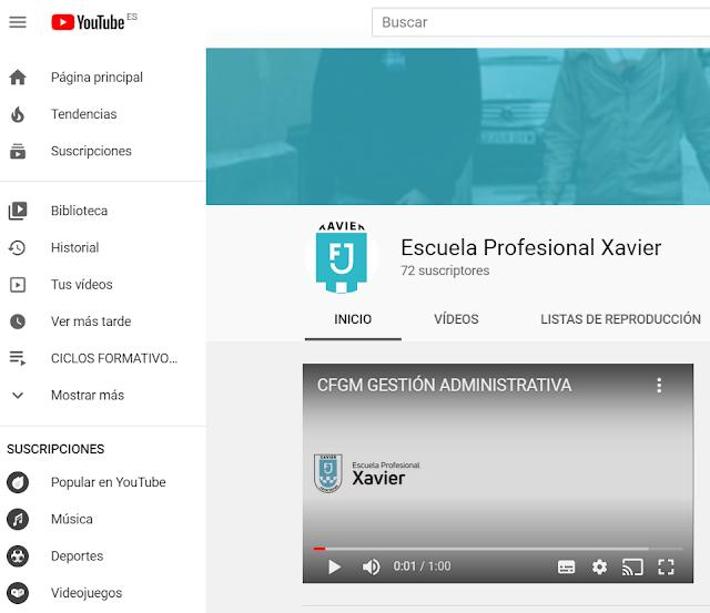 youtube escuela profesional xavier fp formación profesional ciclos formativos grado medio superior Valencia
