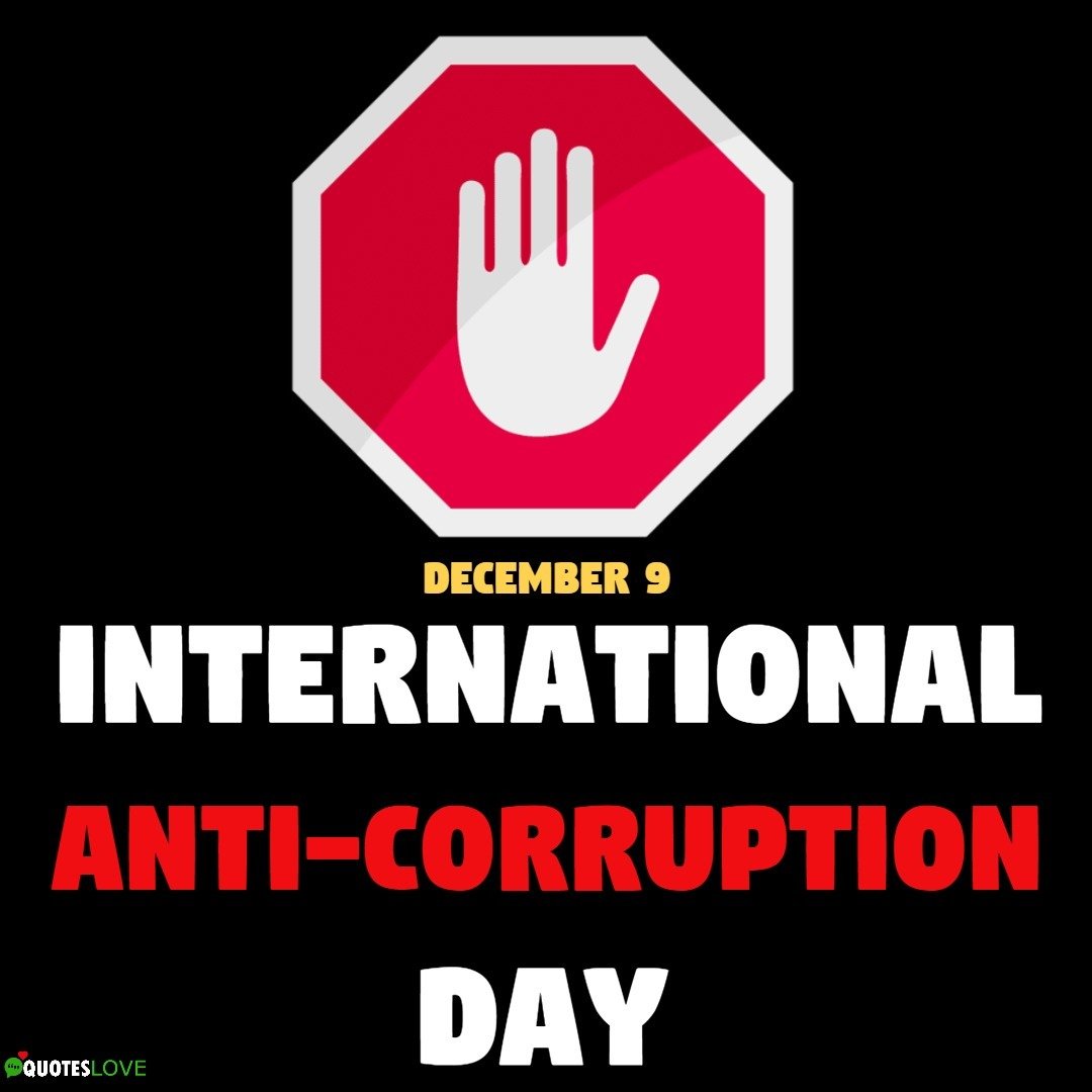 (Latest) International Anti-Corruption Day 2019 Images, Poster