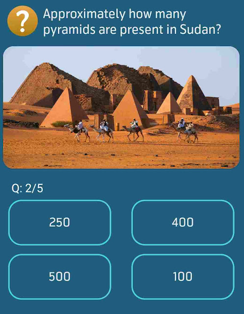 Approximately how many pyramids are present in Sudan?
