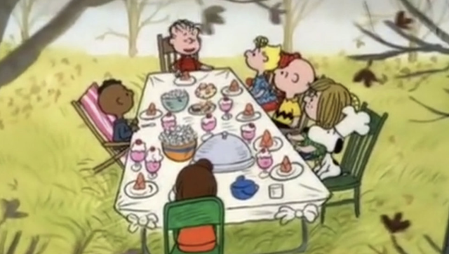 Charlie Brown cartoon labelled racist over depiction of Thanksgiving dinner