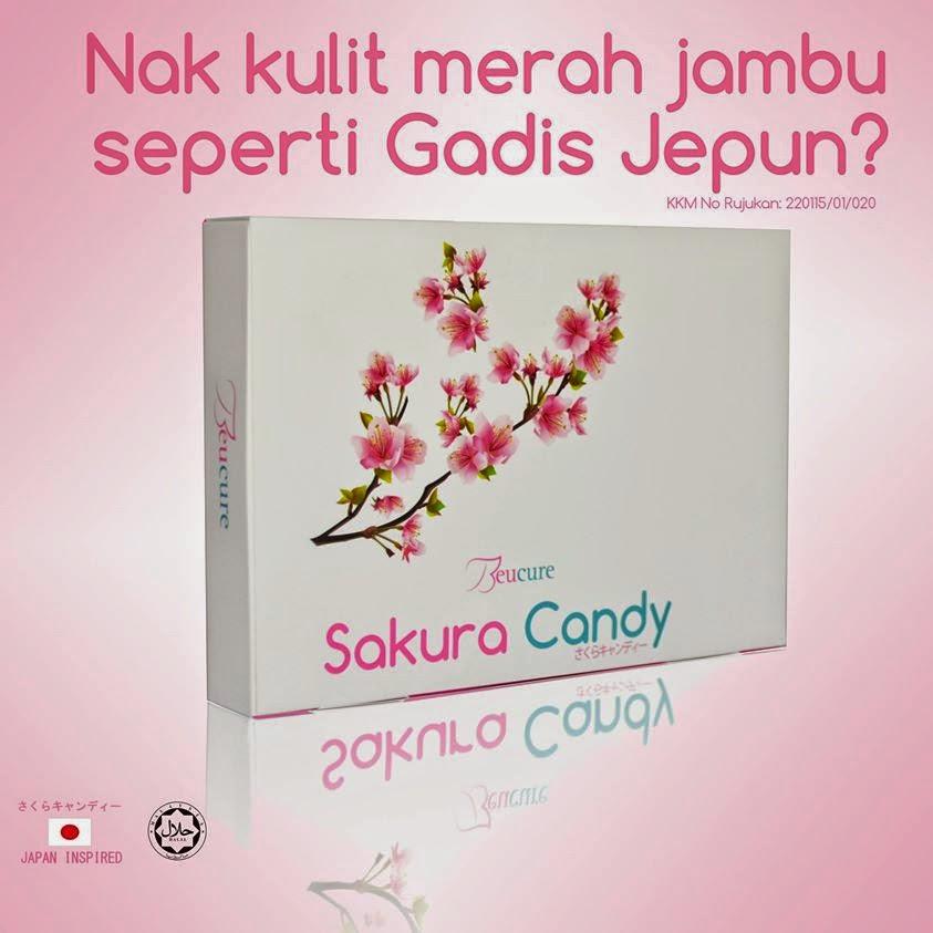 Beaucure Sakura Candy, cantik, sihat, memutihkan kulit
