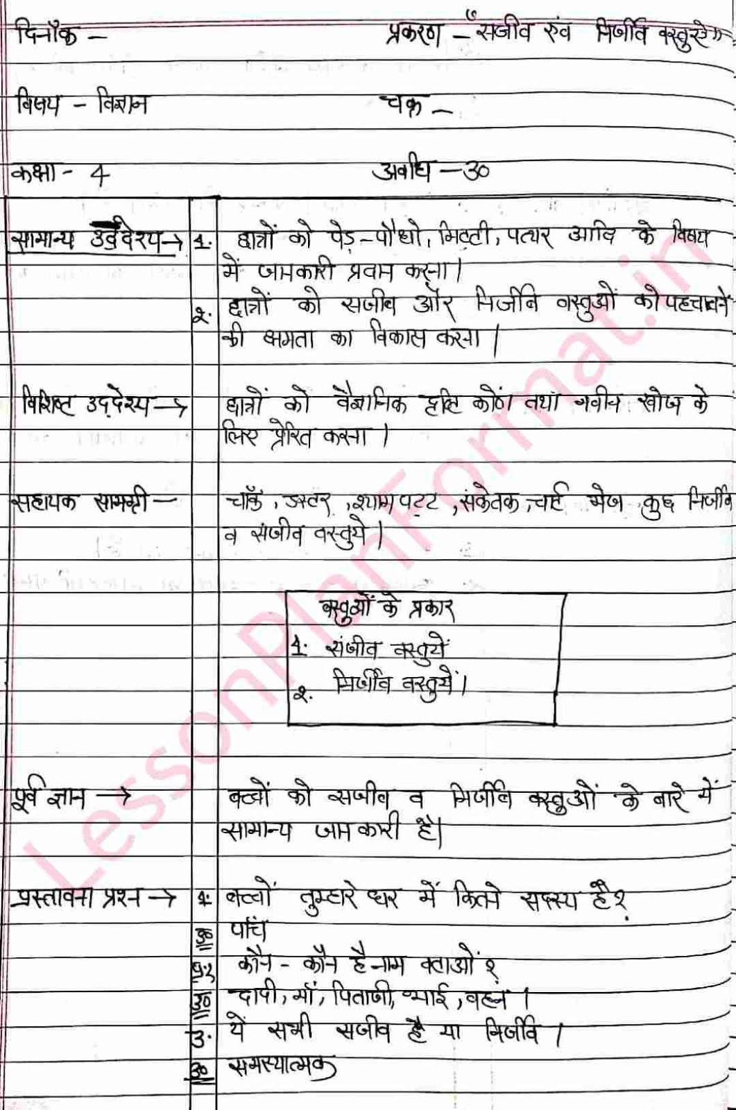 Science Lesson Plan | Sajeev and Nirjeev | Hindi