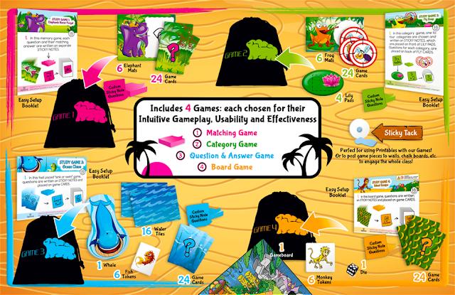 4 customizable learning games for kindergarten, first grade, 2nd grade, 3rd grade, 4th grade