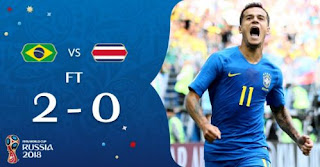 Brasil vs Kosta Rika 2-0 Video Gol Highlights - Piala Dunia 2018