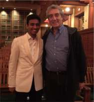 Vinay Parameswaran with Paul Schuyler Phillips of Brown University