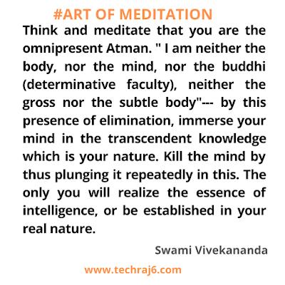 Art of meditation quotes by Swami Vivekananda
