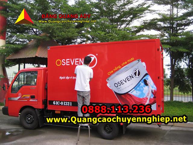 Quảng cáo trên thùng xe tải giá rẻ