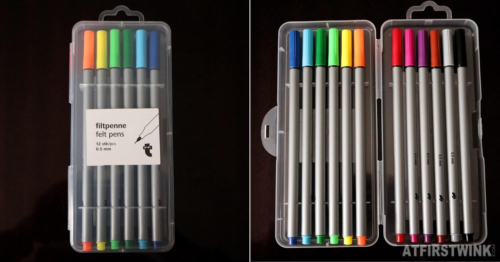 Flying tiger 0.5 mm felt tip pens stationery colors 12