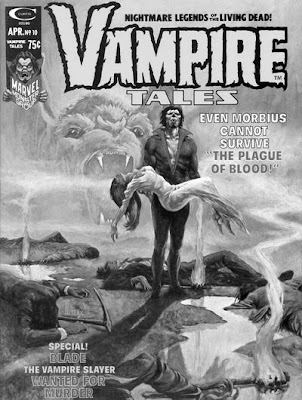 Vampire Tales #10, Morbius, Plague of Blood, Richard Hescox, black and white