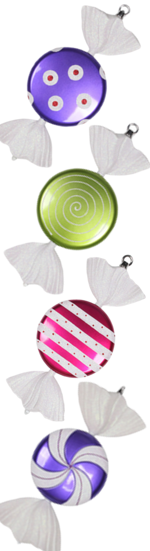 "Santa's Quarters Candy Ornaments 13"" SET OF 2 (each color set sold separately)"