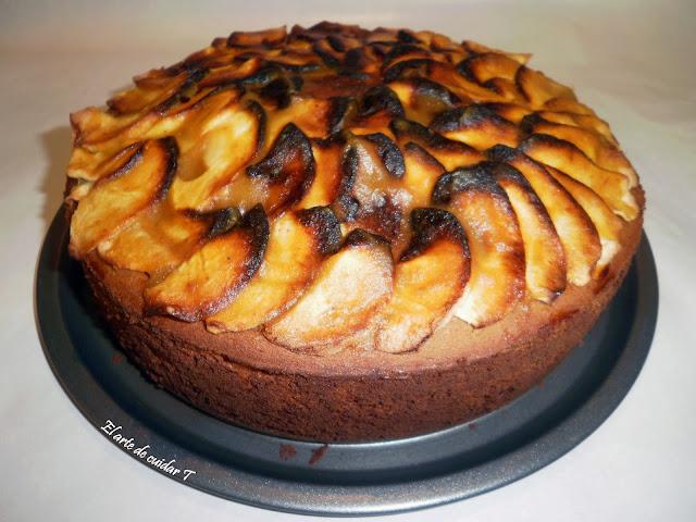 tarta entera Receta de tarta de manzana sin gluten ni azucar añadido