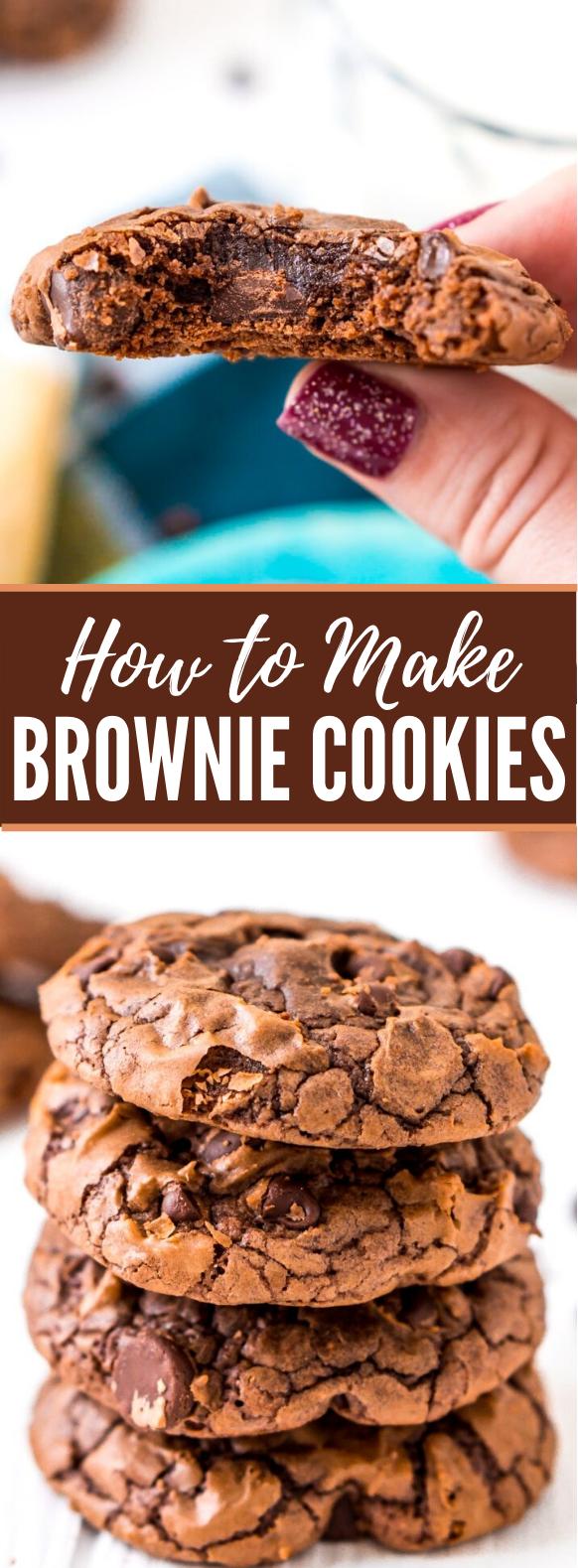 Brownie Cookies #desserts #chocolate