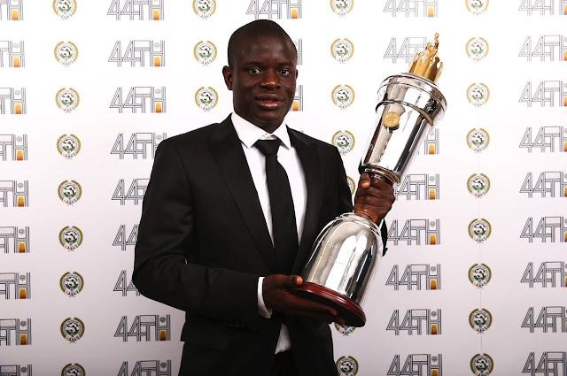 Kanté foi eleito o melhor jogador da Premier League pela PFA