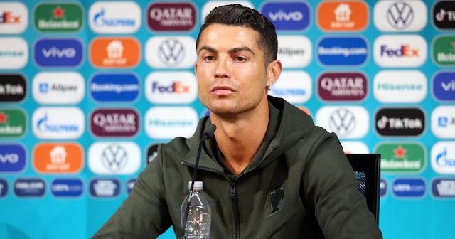 Cristiano Ronaldo coca cola press conference