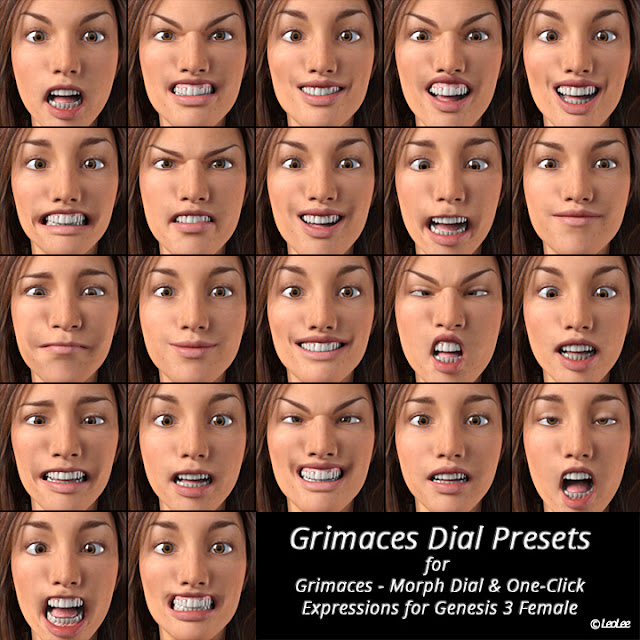 Grimaces Dial Presets for Genesis 3 Female