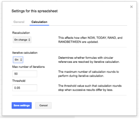 G Suite Updates Blog: New iterative calculation settings and more in ...