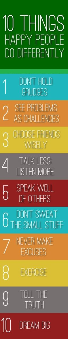 10 Things happy peoples do differently