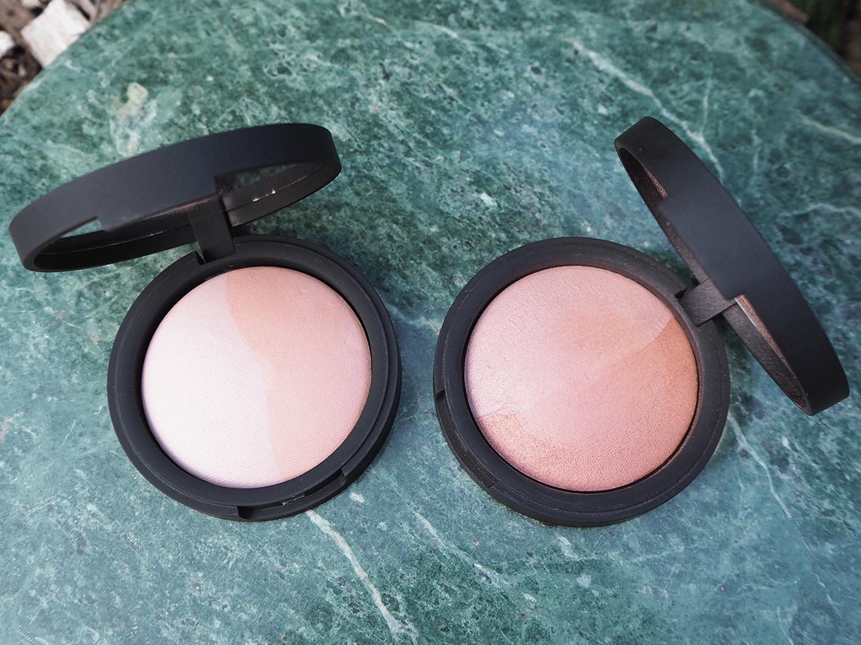 inika Make-Up Baked Blush Duo Burnt Peach und Pink Tickle