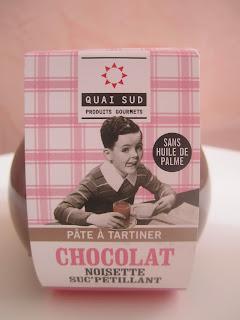 Pâte à tartiner chocolat noisettes et sucre pétillant Quai Sud