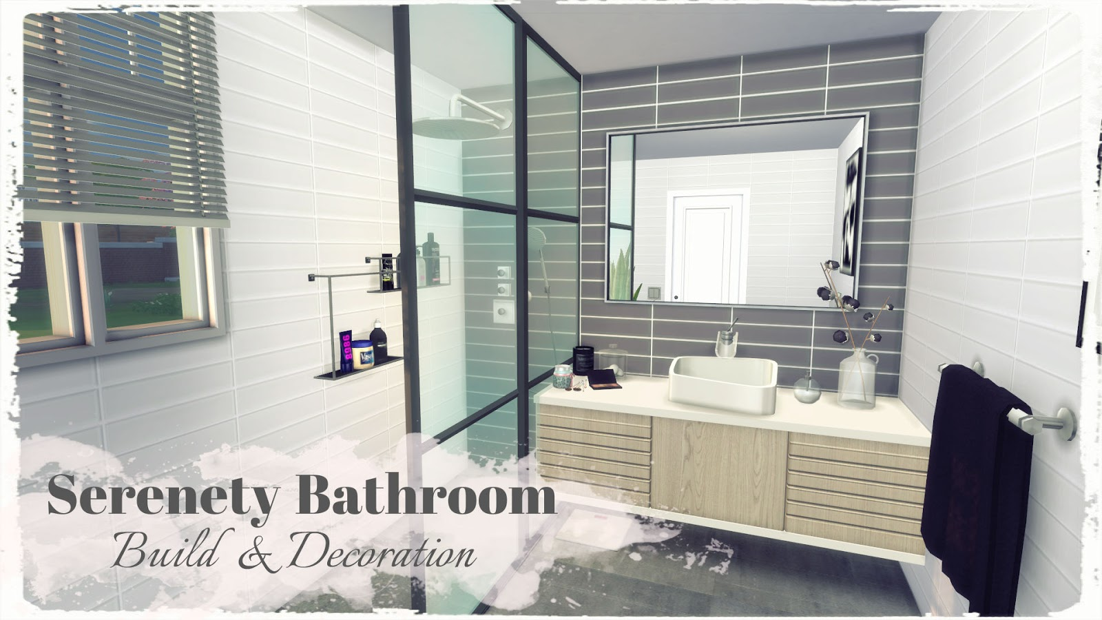 sims 4 serenety bathroom build decoration dinha
