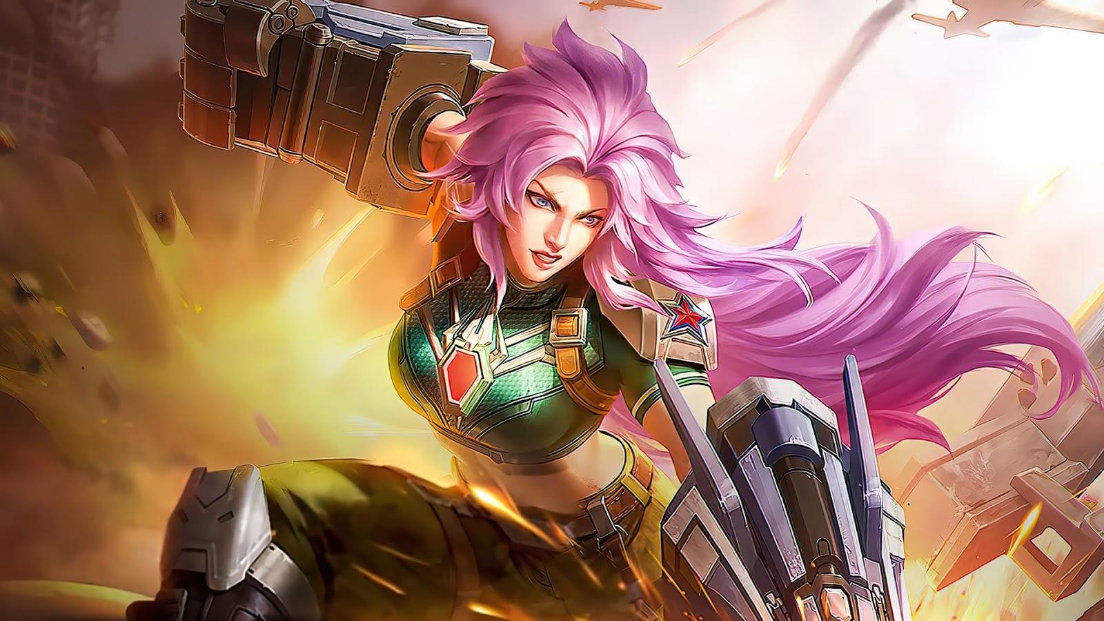 Wallpaper Masha Combat Maiden Skin Mobile Legends HD for PC