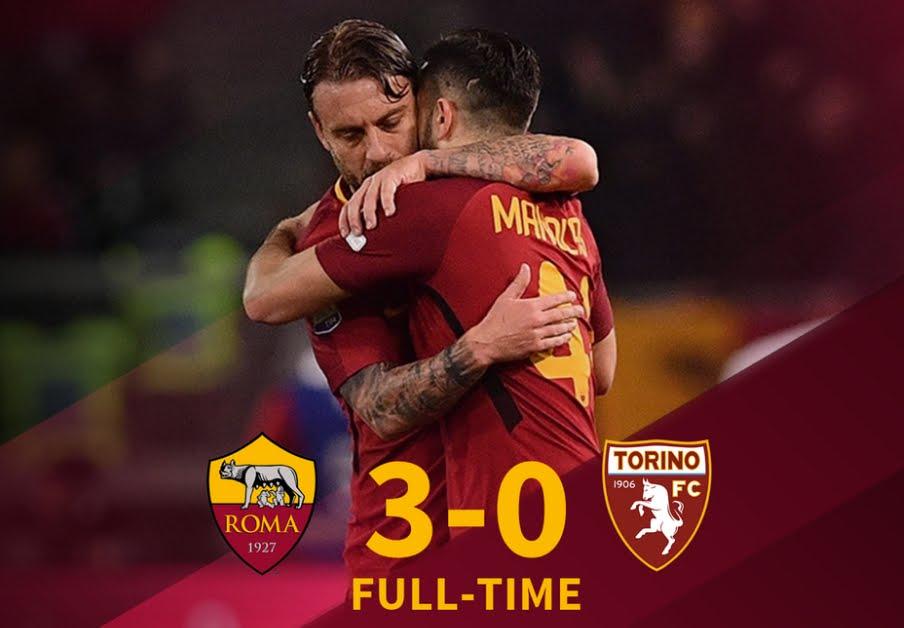 Roma-Torino 3-0, risultato firmato Manolas, De Rossi e Pellegrini | Calcio Serie A