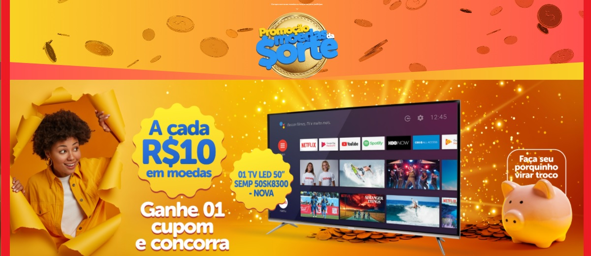 Participar Promoção Moedas da Sorte 2020 Irmãos Gonçalves Supermercados Concorra TV Nova