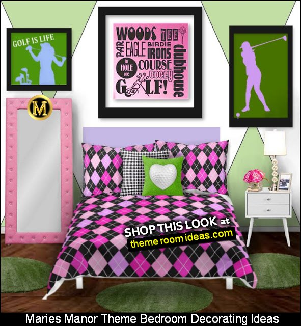 womens golf  bedroom decorating ideas girls golf bedroom ideas girls sports golf decor