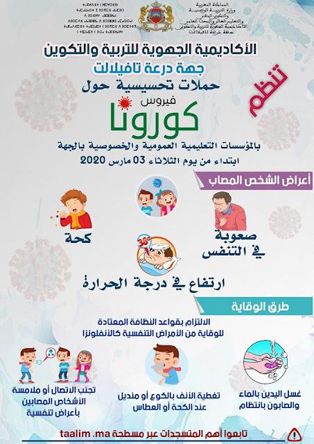 انطلاق الحملات التحسيسية حول فيروس كورونا المستجد