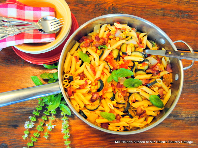 Garden Pasta Skillet at Miz Helen's Country Cottage