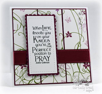 "Our Daily Bread designs ""Pray"" Designer Kathy Jones"