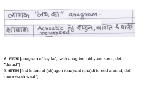 Hindi Cryptics Annotation Format