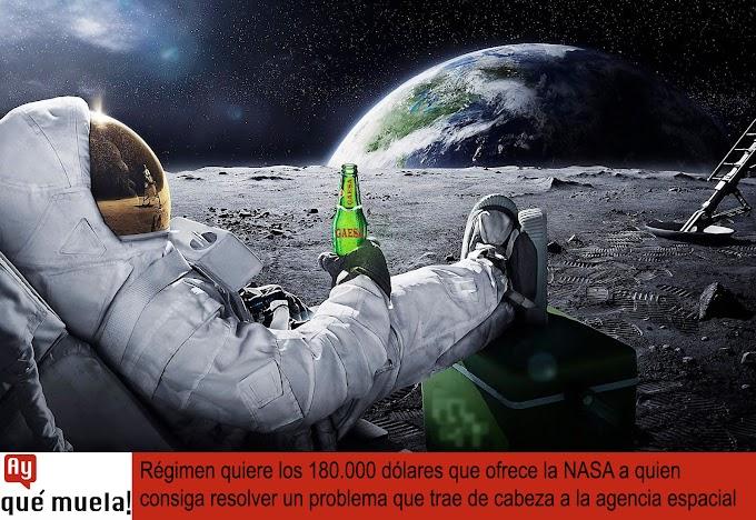 Régimen quiere los 180.000 dólares que ofrece la NASA a quien consiga resolver un problema que trae de cabeza a la agencia espacial