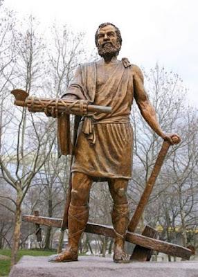 Statua di Cincinnato, Cincinnati, Ohio. Foto di Rick Dikeman, 2004.
