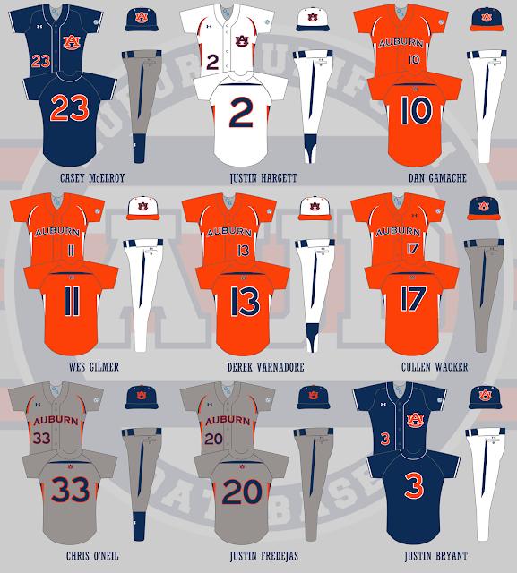 auburn baseball 2011 uniforms