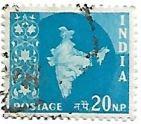 Selo Mapa da Índia, cor azul