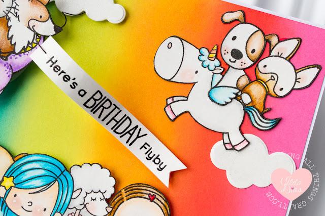 A Birthday Flyby Card by Ilda - 2017 MFT Superstar Card Contest Entry