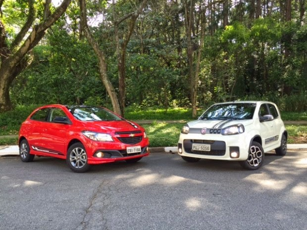 Fiat Uno VS Ford Ka Test